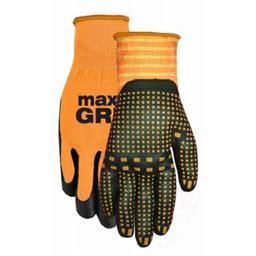 Maxgrip Men's Orange Glove, Large, Size: One Size