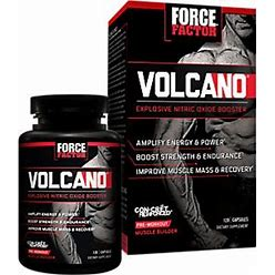 Force Factor - Volcano Explosive Nitric Oxide Booster Pre-Workout Muscle Builder (120 Capsules) - Nitric Oxide Boosters