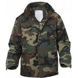 Rothco Ultra Force M-65 Field Jacket Woodland - Size 3XL, Adult Unisex, Green