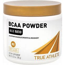 True Athlete - BCAA Powder 4:1:1 Ratio NSF Certified Supports Muscle Growth & Recovery (30 Servings) - BCAA Complex