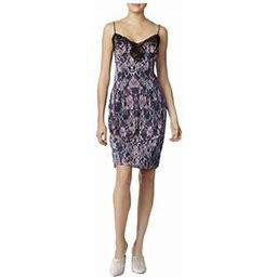 Guess Womens Serena Night Time Party Slip Dress, Women's, Size: Medium, Purple