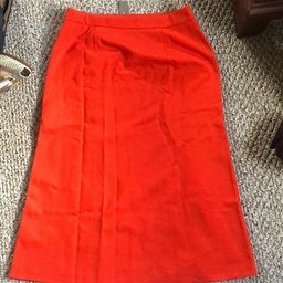 J. Crew Skirts | Jcrew Tall Midi A Line Skirt In Structured Ponte | Color: Red | Size: 12T