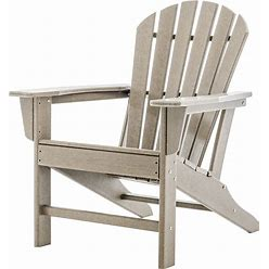 Adirondack Chair, All-Weather Classic Plastic Patio Chair For Pool, Deck, Garden, Backyard & Lawn Furniture, Lounger Seating, Outdoor Campfire
