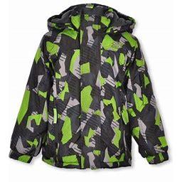 Skechers Boys' Sharp Geo Camo Insulated Jacket, Boy's, Size: 4, Green