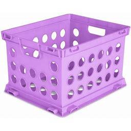 Sterilite, File Crate, Violet Bloom, Purple