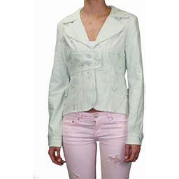 Custo Barcelona Women's Calin Star Button Blazer Jacket 292352, Size: US 2 / EUR 36, Green