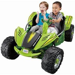 12v Power Wheels Dune Racer Extreme Battery-Powered Ride On Toy, Green
