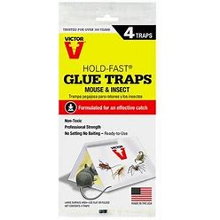 Victor Pest M182 Hold Fast Tent Glue Board - 4Pack