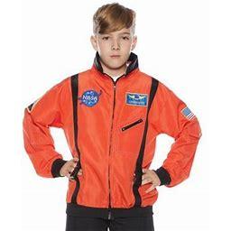 Orange Astro Jacket Child Halloween Costume, Boy's, Size: Medium (6-8), Multicolor