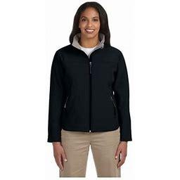 Devon & Jones Ladies Soft Shell Zippered Jacket, Style D995w, Women's, Size: XL, Black