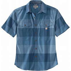 Carhartt Mens Rugged Flex Relaxed Fit Lightweight Short-Sleeve Plaid Shirt