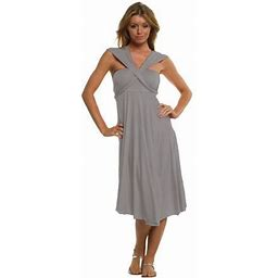Vivian's Fashions Dress/Skirt - Twist Wrap, 10 Ways To Wear, Women's, Size: 2XL, Gray