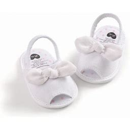 Carolily Finery Fashion Non-slip Baby Girl Sandal Shoes Walking Learning Soft-Soled Non-Slip Plaid Bow Cloth Candy, Infant Girl's, Size: 12-18 Months,
