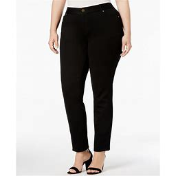 Inc Plus Size Skinny Ponte Pants, Created For Macy's - Deep Black