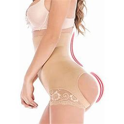 Lilvigor Women High Waist Butt Lifter Shapewear Tummy Control Body Shaper Panty Underwear Slimming Knickers, Women's, Size: Small, Beige