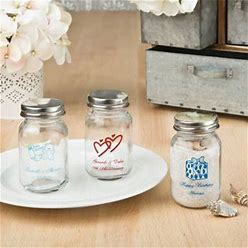 Personalized Celebrations 3.5 Oz. Glass Mason Jar Favors - Sample   Fashioncraft