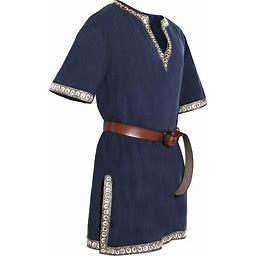 Taoliyuan Mens Halloween Medieval Costume Renaissance Tunic Viking Knight Pirate Vintage Warrior LARP Shirts