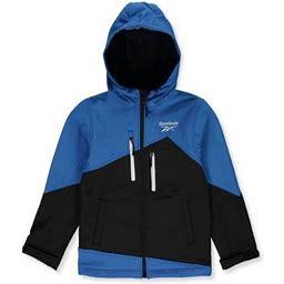Reebok Boys' Asymmetrical Paneled Hooded Jacket - Blue/black, 4, Boy's