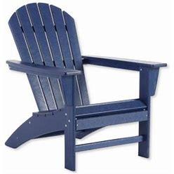 All-Weather Waterfall Adirondack Chair Blue   L.L.Bean