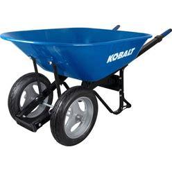 Kobalt 7-Cu Ft Steel Wheelbarrow With Flat-Free Tire In Blue | P7-SF-2W-K 35098