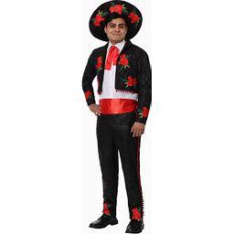 Adult Mariachi Costume | Adult | Mens | Black/Green/Red | XL | FUN Costumes