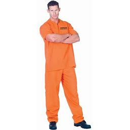 Public Offender Adult Halloween Costume, Men's, Size: Std