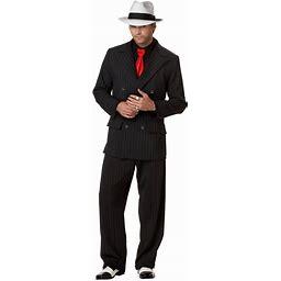 Men's Mob Boss Costume - Black/white - M