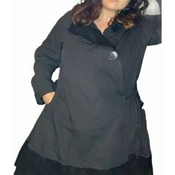 Style Jackets & Coats | Style Charcoal A Line Coat Xl | Color: Black/Gray | Size: Xl