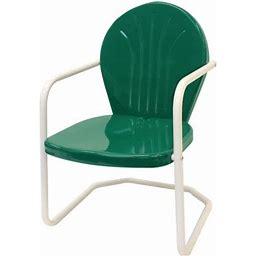 Leigh Country Retro Outdoor Chair Metal Dark Green