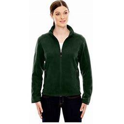 Ash City North End North End Women's Fleece Front Zipper Jacket, Style 78172, Size: 3XL, Green
