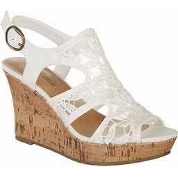 Dept 222 Womens Artesia Casual Sandal, Women's, Size: 10W, White