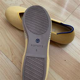 Rothy's Shoes | Rothys Flat | Color: White/Yellow | Size: 5