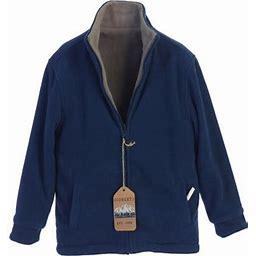 Gioberti Boys' Zip Up Reversible Polar Fleece Heavy Jacket, Boy's, Size: 4, Blue