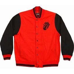 Rolling Stones Men's Varsity Jacket Red, Size: Large