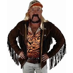 Jerry Leigh Exotic Tiger Lover Fringe Jacket For Adults, Halloween Costume Accessory, Adult Unisex, Size: Standard