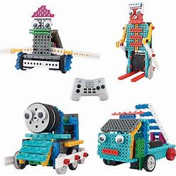 Robot Kit For Kids - Ingenious Machines Build Your Own Remote Control Robot Toy - Tg632 Awesome Fun Robot Kit & Construction Toy By Thinkgizmos (All Batteries Included)