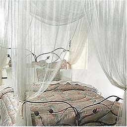 Majesty Ivory Large Bed Canopy - Padachy Inc. Dba Mombasa - Bed Curtains & Canopies - Bed Canopy - Ivory