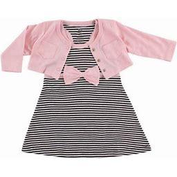 Hudson Baby Girl Cardigan And Racerback Dress, Infant Girl's, Size: 12 - 18 Months, Multicolor