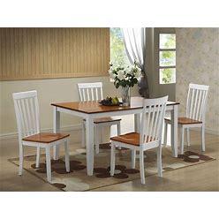 Boraam - 5Pc Bloomington Dining Set In White And Honey Oak - 22033