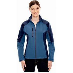 North End CompassWomen's Color-Block Soft Shell Jacket, Style 78077, Size: Medium, Blue