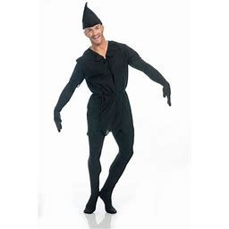 Halloween Shadow Adult Costume, Men's, Size: Mens Large (42-44) 42-44 Chest - 5'8 - 6'2 Approx 175-190lbs, Black
