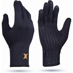 Thx4copper Infused Compression Winter Thermal Gloves, Touch Screen Full Finger Warm Glove For Writing, Texting, Cycling, Running, Carpal Tunnel-Anti-Slip Windproof For Women/Men