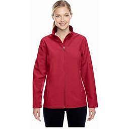 Team 365 Women's Leader Soft Shell Jacket, Style Tt80w, Size: Medium, Red