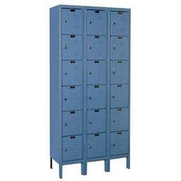 Nexel Industries I6188asgy Assembled 6 Tier & 18 Door Locker, Gray - 12 X 18 X 12 In.
