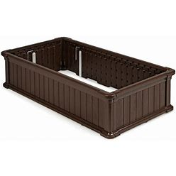 """48"""" X 24"""" Raised Garden Bed Rectangle Plant Box-Brown"""