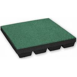 Rubber Tegels 55 Mm - 0.75 M² (3 Tegels Van 50 X 50 Cm) - Groen