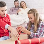 Parents Give Children Gifts