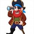 Pirate Looking through Binoculars