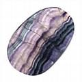 Rainbow Fluorite Slice