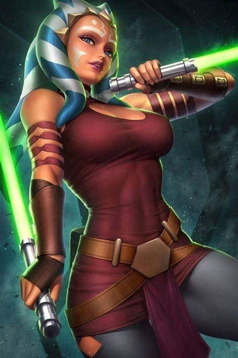 Ahsoka Tano Star Wars Painting